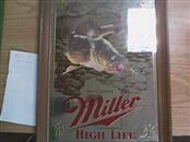 MILLER HIGH LIFE Sign BASS MIRROR